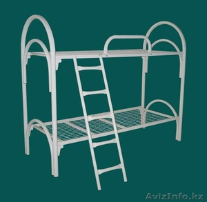 Железные двухъярусные кровати для бытовок, кровати для общежитий, оптом - Изображение #1, Объявление #1418602