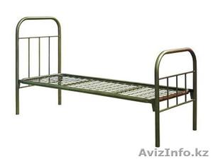 Металлические кровати с ДСП спинками для пансионатов, кровати для гостиниц, опт - Изображение #1, Объявление #1424151