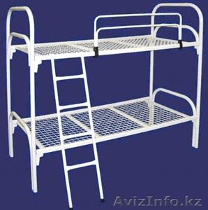 Железные двухъярусные кровати для бытовок, кровати для общежитий, оптом - Изображение #4, Объявление #1418602